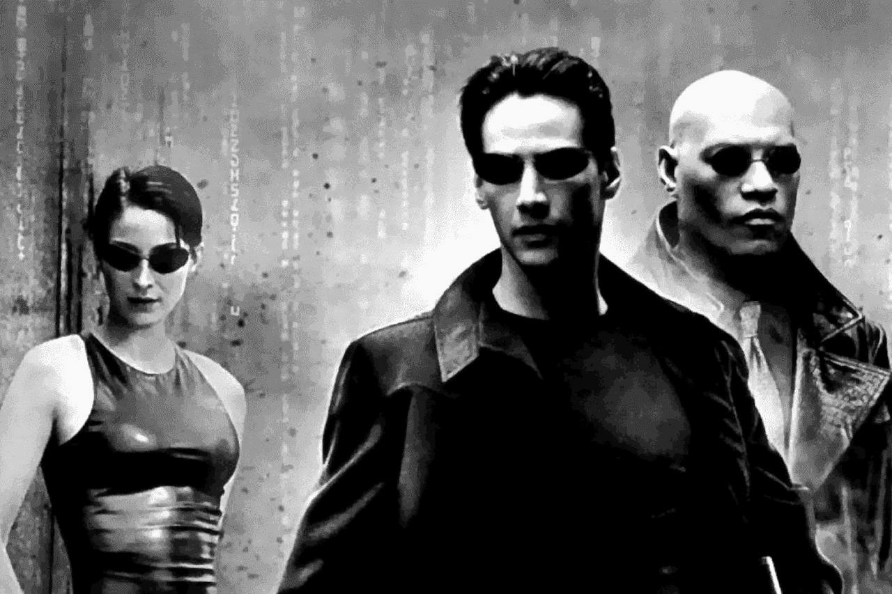 Promotional poster for The Matrix directed by The Wachowski Brothers.